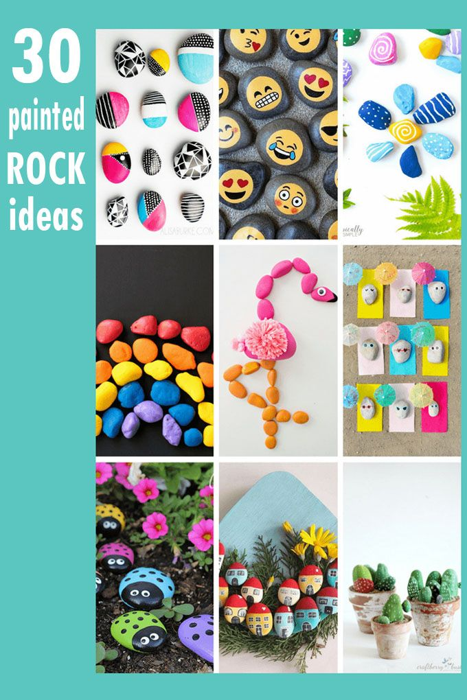 Rock Painting Ideas Roundup Of 30 Painting Ideas For Kids And