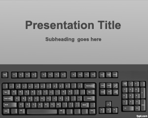 Keyboard Typing PowerPoint Template is a basic Typing template for PowerPoint with a keyboard image in the master slide