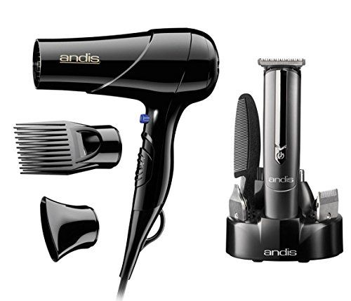 Andis Hair Blow Dryer with Comb & Nozzle Attachments with 10-Piece Beard & Mustache Grooming Trimmer Kit Review