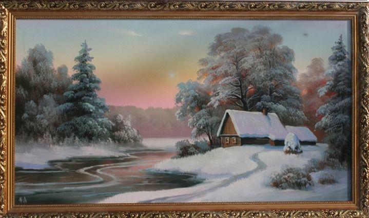 """Живопись акрилом """"Зимний лес"""": 11 тыс изображений найдено в Яндекс.Картинках"""