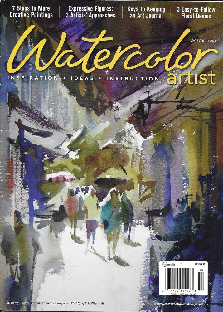 Watercolor Artist Magazine Creative Paintings Expressive Figures