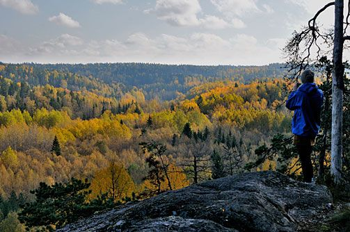 Espoo - Nuuksion kansallispuisto. Syksyiset maisemat. Kuva: Reijo Juurinen Finland