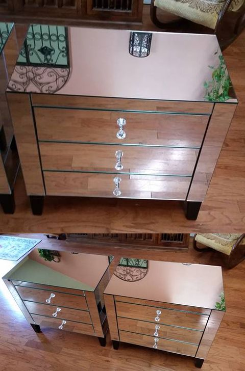 Selling Beautiful mirrored end tables. You won't find a better deal on these anywhere. $400 Cash only #pinbayus #table #selling