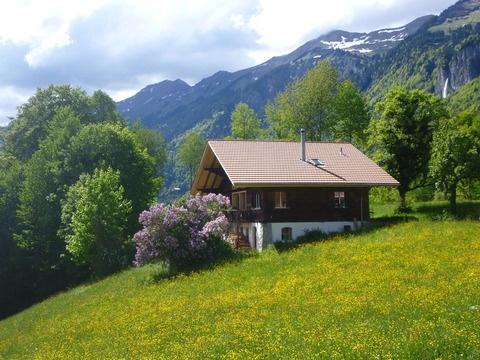 ¿Te acuerdas de la pequeña Heidi? Revive sus aventuras en los Alpes suizos en este precioso chalet de montaña en Brienz, a 15km de Interlaken