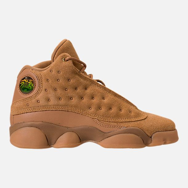 35f396501bb2 Right view of Kids  Grade School Air Jordan Retro 13 Basketball Shoes in Elemental  Gold Baroque Brown
