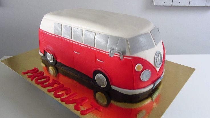 Volkswagen bus taart