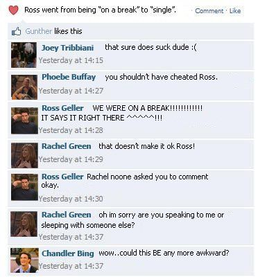 countmewiththedreamers:    icantgotopigfartsitsonmars:    letsflytopigfarts-:    memes-:    princesssconsuela:    heyimsrav:    lol chandler <3    LOL gunther likes this    posted byheyimsrav    My creys.    CHANDLER TOTALLY WOULD SAY THAT.    This is so accurate lol.