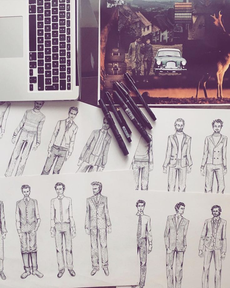 Mens Fashion Illustration By Johanna Ohlsson