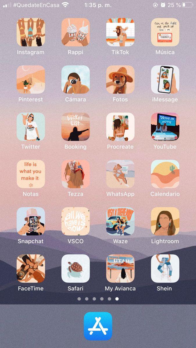 Cómo Cambiar Los Iconos De Tus Apps Personaliza Tu Celular Aesthetic The Media Style Apps Recomendadas Cosas Vintage Apps