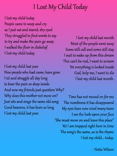 loss of adult son poems | 1000+ ideas about Losing A Child on Pinterest | Grief, Infant Loss and ...