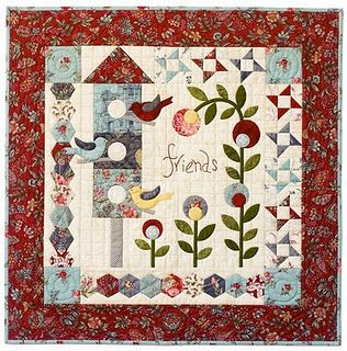 cute spring quilt -- its called Annabelle, I think. We have it @ our shop.