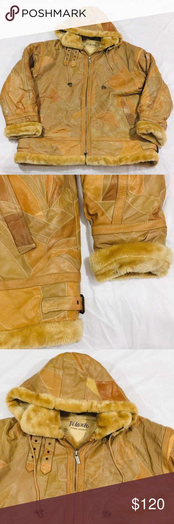 Men S Vintage Vilanto Leather Patch Fur Jacket Clothes Design Leather Patches Fur Jacket [ 1740 x 580 Pixel ]