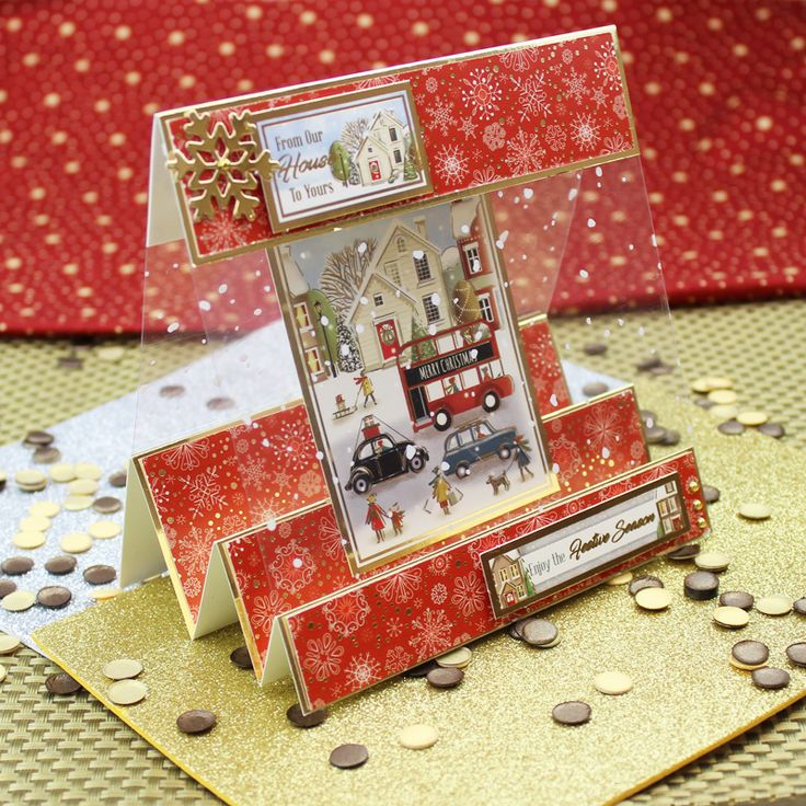 Card created using Hunkydory Crafts' Driving Home for Christmas Topper Set from the Seasonal Style Topper Collection