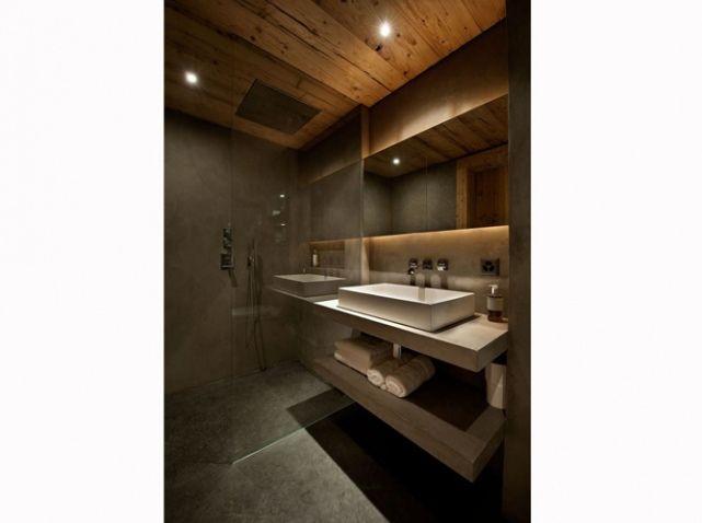 Salle de bains chalet design