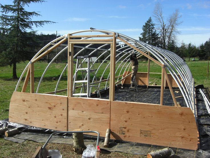 this is a really good tutorial on how to build a hoop house