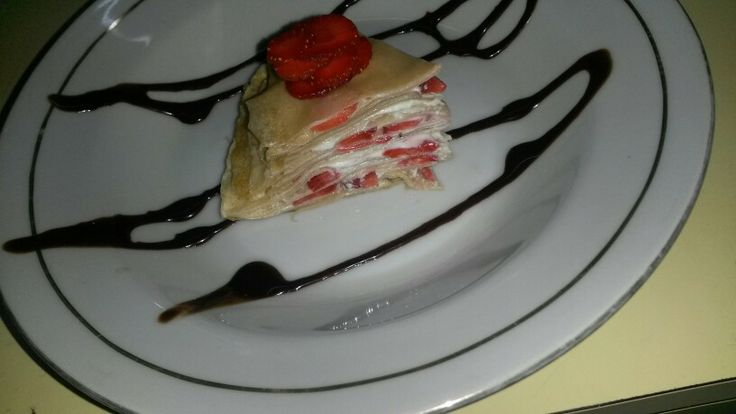 Strawberry mille crepes