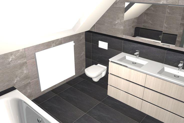 51 best images about 3d ontwerpen badkamers on pinterest - Badkamer onder het dak ...