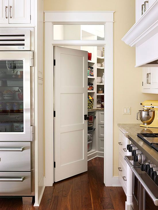10 fun ways to dress up pantry doors pantry barn and doors for Window up above