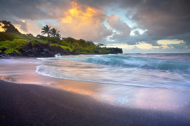 Maui By PatrickSmithPhotographyPhotographers, Maui, Sands Beach, Hammocks, Beautiful, Places I D, Sea, Hawaii, Black Sands