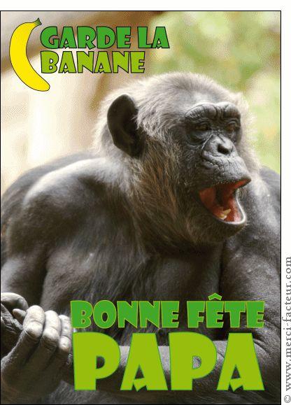 La fête des pères arrive dans quelques jours...  Envoyez en quelques clics une jolie carte :) http://www.merci-facteur.com/carte-fete-des-peres.html #carte #fetedesperes #papa Carte Garde la banane papa pour envoyer par La Poste, sur Merci-Facteur !