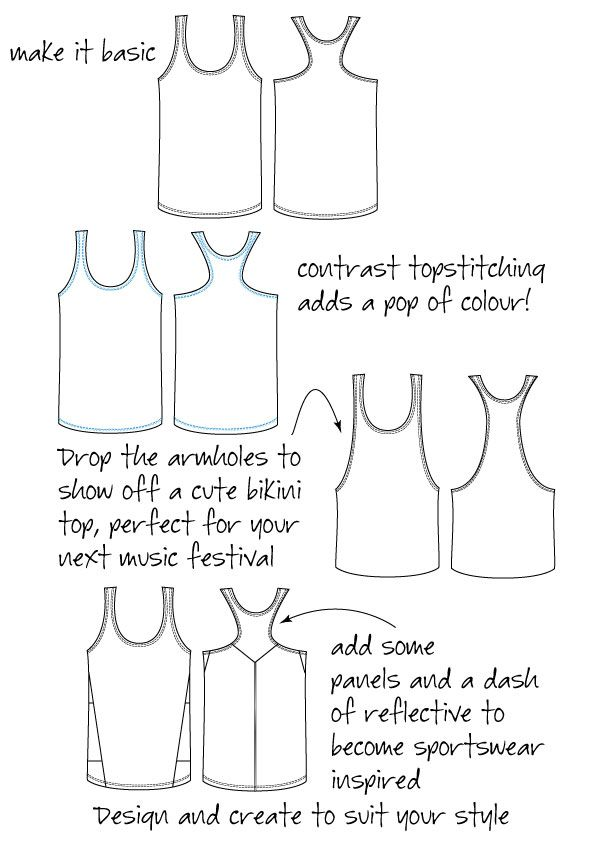 Racer Back Singlet | Measure Twice Cut Once - a pdf sewing pattern by Measure Twice Cut Once