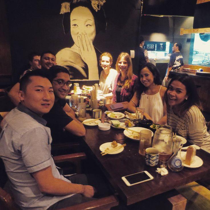 Dinner reunion with the crew... Wack Wednesdays in effect @izakayaissei #WW