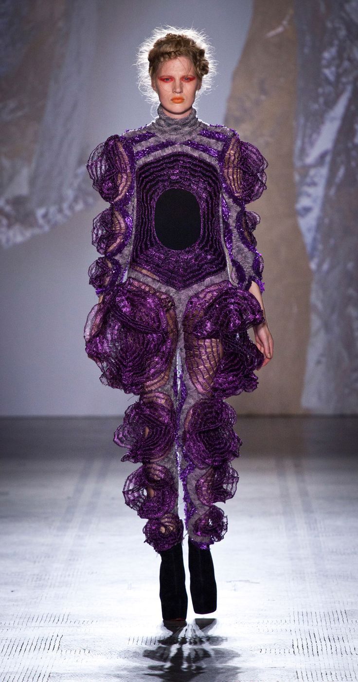 Here it is, the outfit Bjork wore and broke her purple allergy with :) (Fashion in Motion: Craig Lawrence 2012 V)