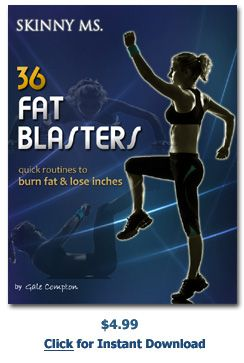 36 Fat Blasters -  Designed to burn unhealthy #bodyfat, pounds and inches. 12-week program featuring three new routines each week.