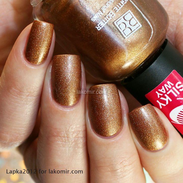 Лак для ногтей Brigitte Bottier Silky Way Шелковый путь SW563 Корица