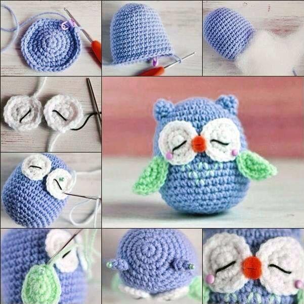 Búho a crochet