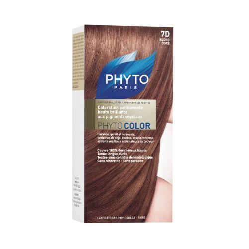 Phyto Phyto Color Tinte Rubio Dorado - 7D Con extractos de plantas tintóreas (de 57 a 61% según el tono)
