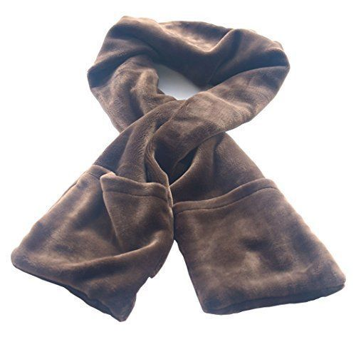 USB Electric Heated Neck Scarf for Winter w/ High Thermal Efficiency Warm Pocket #AWOEZ