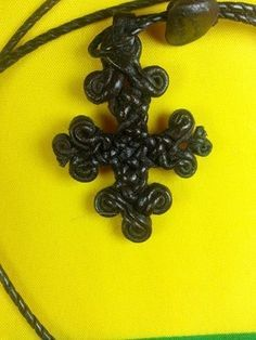 coptic leather cross.