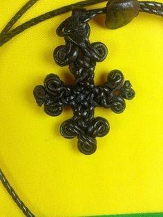 coptic leather cross.