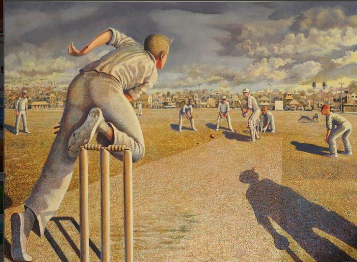 Australian cricket art