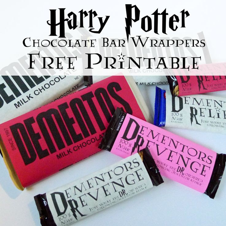 Harry Potter Printable Dementor Chocolate Wrappers