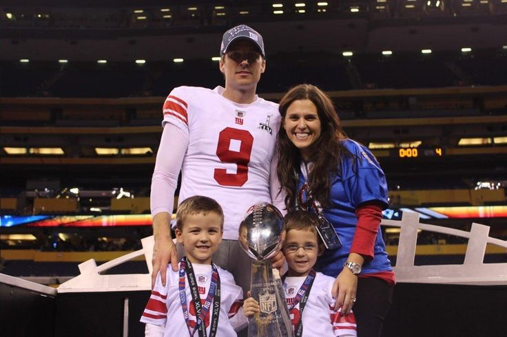 Lawrence Tynes and family after the Giants second Super Bowl victory over the Patriots....Giants hero with boot at Lambeau 9 years ago, Lawrence Tynes reflects after staph infection ended career