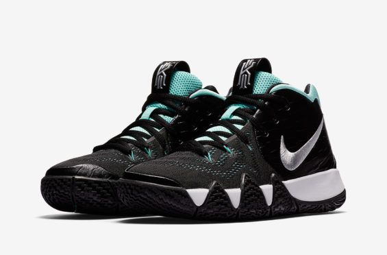 6aeac45e470d Official Images  Nike Kyrie 4 GS Black Tropical Twist A new super clean  colorway of
