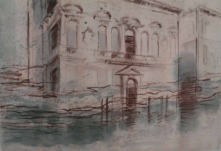 North grand canal, series, pastel, watercolour on paper, 18 x 14 inches.