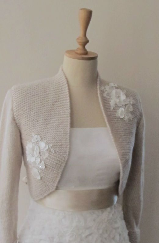 Bridal Bolero Wedding Shrug  Wrap Capelet  by crochetbutterfly