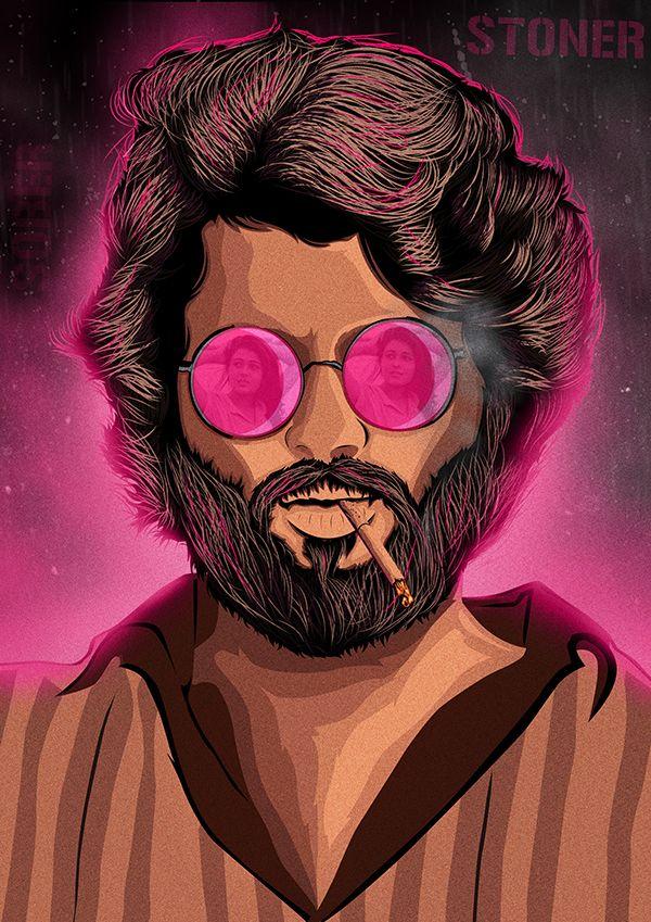 Arjun Reddy The Stoner Poster On Behance Beard Art Movie Poster Art Pop Art Images