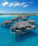 Relax and rejuvenate after the wedding in the clear turquoise waters of the South Pacific. (Four Seasons Resort Bora Bora)