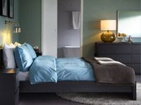 The contemporary dresser, lamp, mirror, wall color combo. Bedroom Furniture - Beds, Mattresses & Inspiration - IKEA