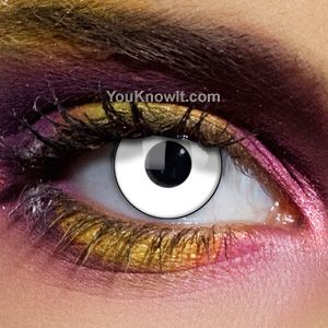 Prescription contacts for halloween... so cool for those who wear contacts!