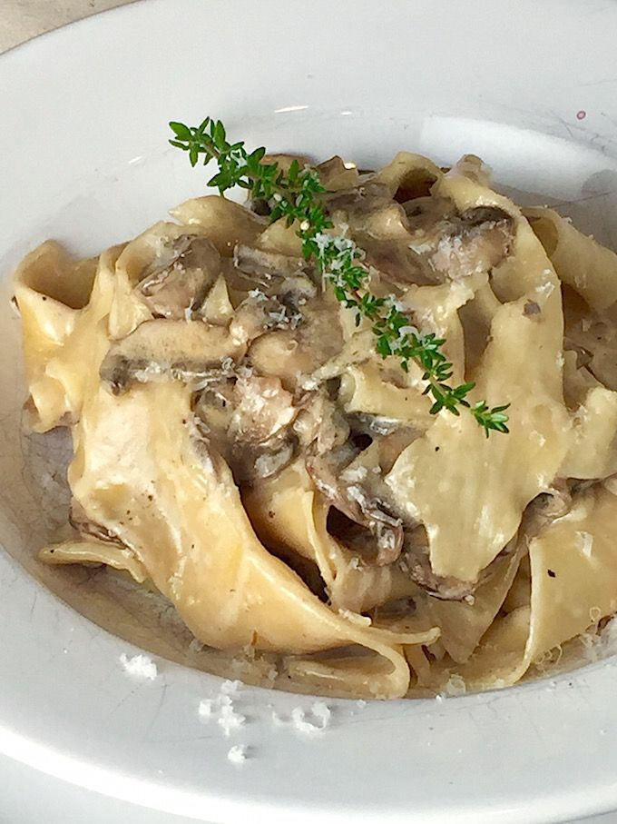 mushroom pappardelle with ricotta truffle cream pappardelle pasta ...