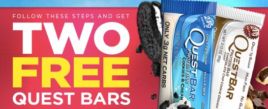 Two FREE Quest Protein Bars!