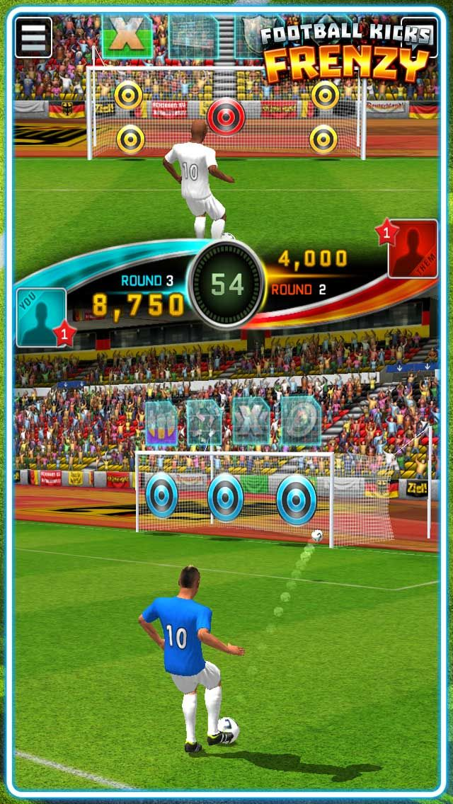 Use SCORE STREAKS to drop a brick wall in your opponent's box, start a hurricane or turn their targets invisible!