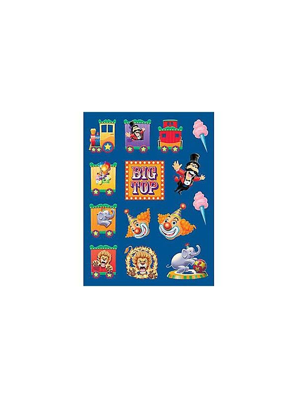 Circus Party Sticker (4-pack)-http://ponderosa.co/c1001/circus-party-sticker-4-pack/