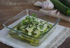 Carpaccio di zucchine alle erbe aromatiche