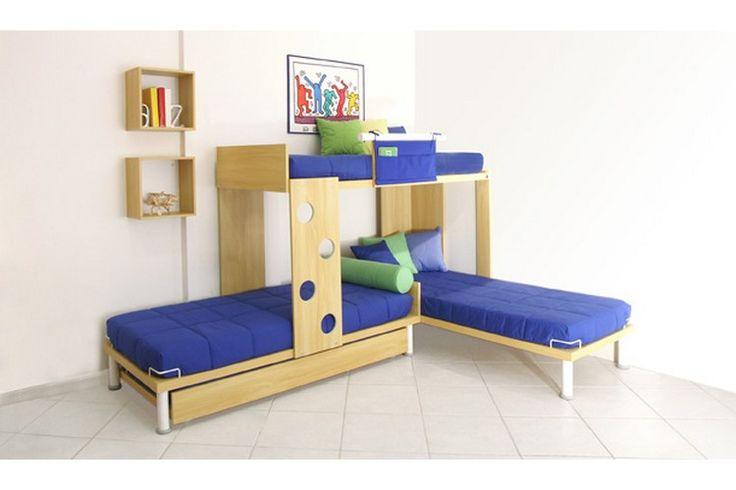 Treliche em L (CM5100): 289,2cm(C) x 155cm(H) x 93,8/191,8cm(P) on Intercasa Móveis Infantis e Juvenis  http://www.intercasamoveis.com.br/moveis-infantis/treliches/#sg4